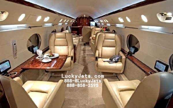 A Beautiful GIV with a G450 Interior arranged by Lucky Jets | Las Vegas