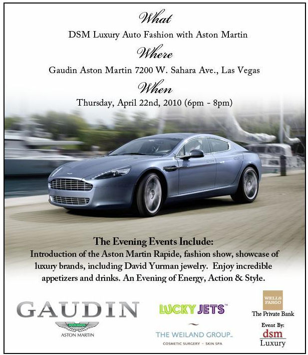 LuckyJets Auto Fashion with Aston Martin | Las Vegas | NV