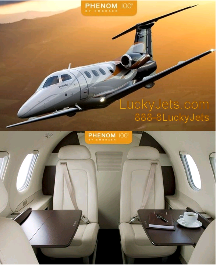 4 Pax Phenom 100 from Los Angeles to Las Vegas arranged by Lucky Jets