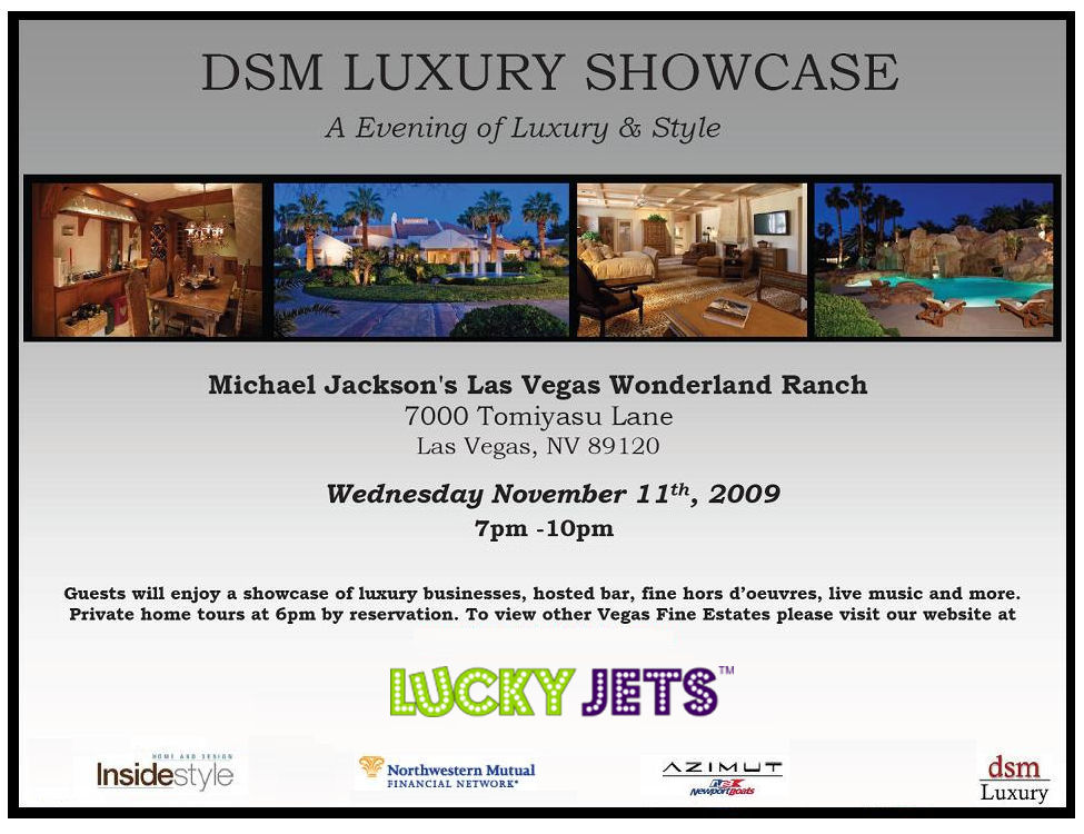 Michael Jackson's Wonderland Ranch Party in Las Vegas sponsored by Lucky Jets