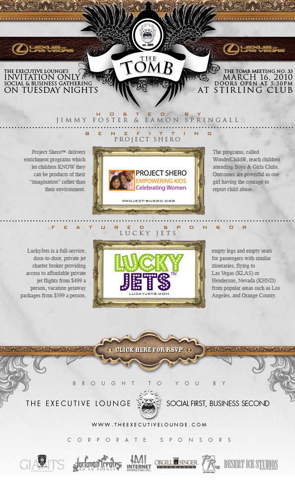 Invitation Only Social and Business Networking event Presented by Lucky Jets
